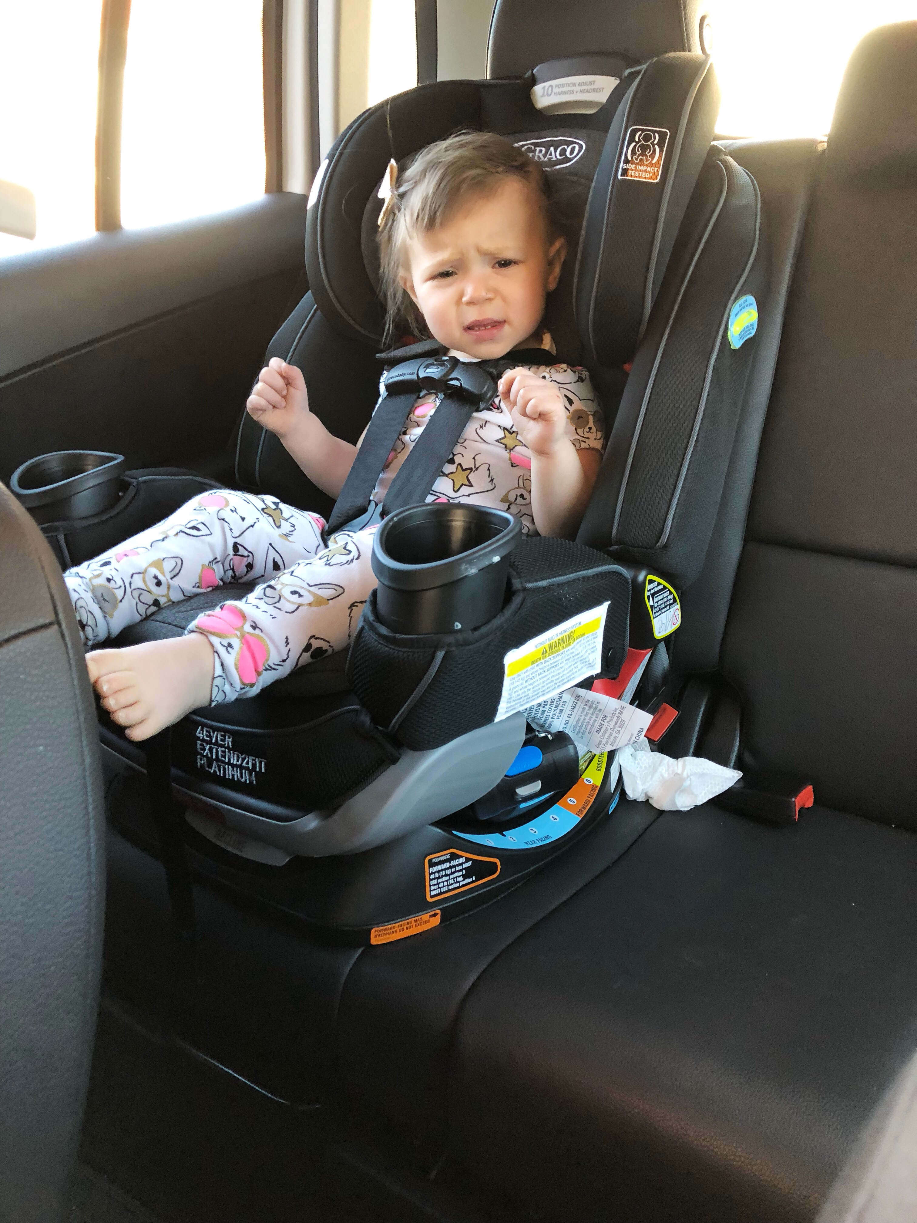 I feel like the Graco 4ever Extend2fit Platinum 4-in-1 car seat is \u201crange rover\u201d of seats! haha 4Ever Car Seat Review